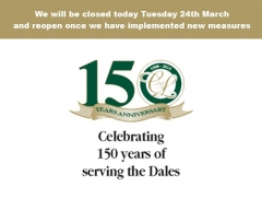 Closed today Tuesday 24th March and reopen once we have implemented new measures