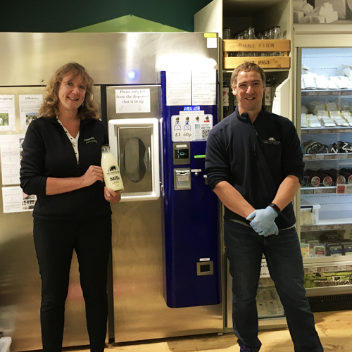 Milk Vending Machine Campbells of Leyburn